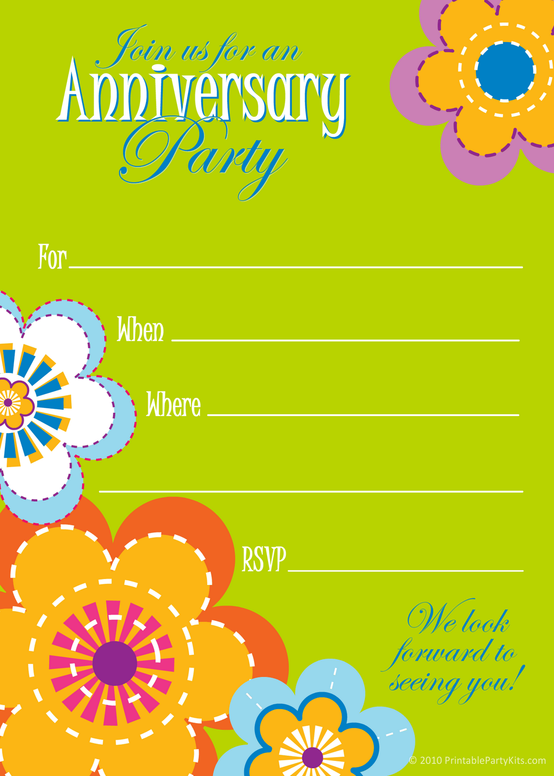 Wedding Anniversary Invitation Template Free