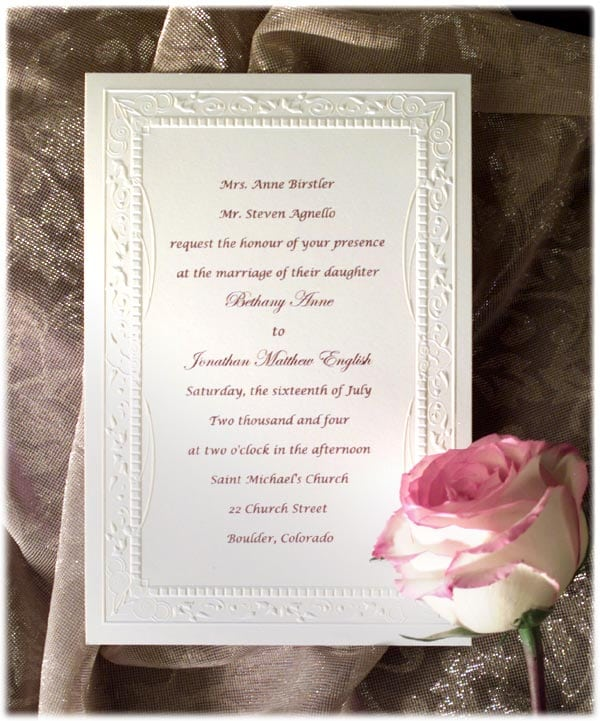 Wedding Invitation Free Samples