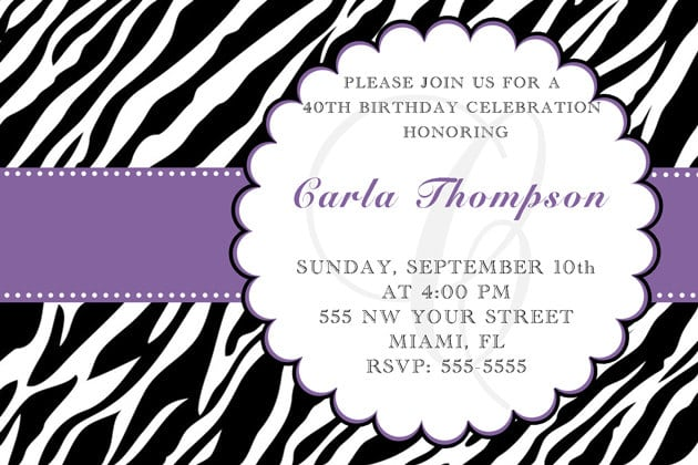 invitation for adults, Birthday invitations