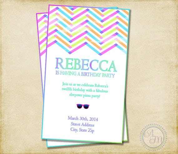 16th And 18th Birthday Party Invitation Template