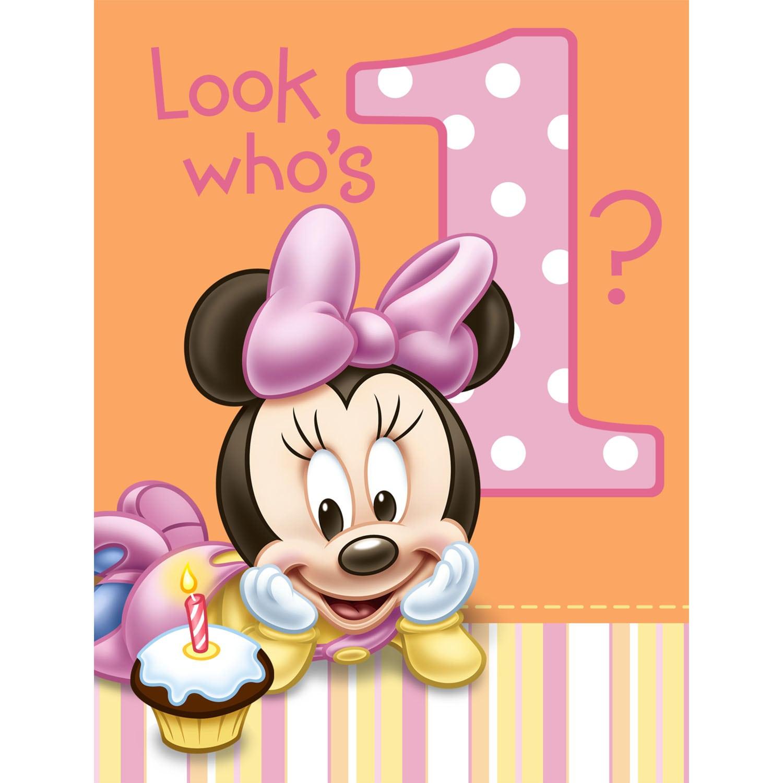 1st Birthday Invitation Minnie Mouse