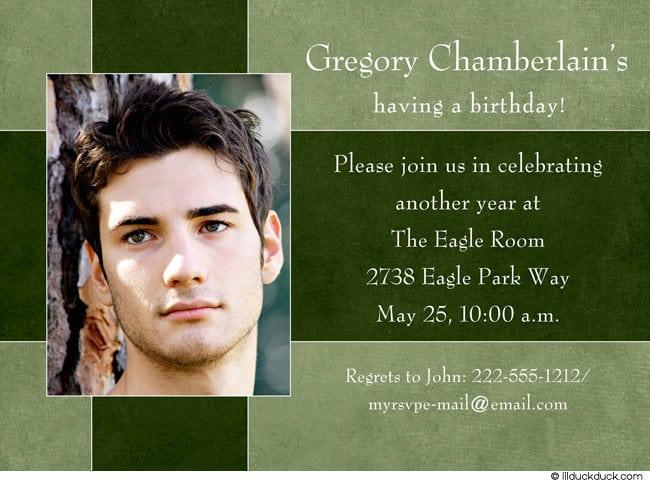 21st Birthday Invitation For Guys