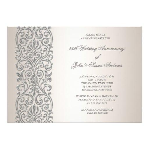 25th Anniversary Party Invitation Template