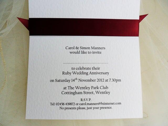 25th Wedding Anniversary Party Invitation Wording