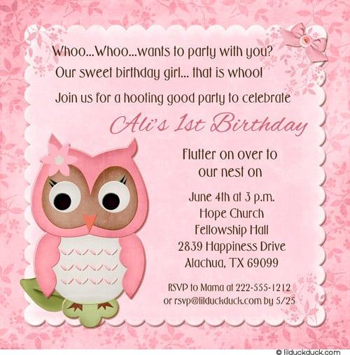 39;s First Birthday Invitation Wording