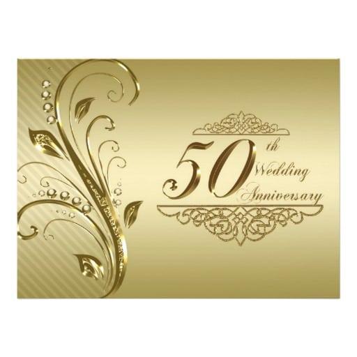 50 Wedding Anniversary Invitation Cards