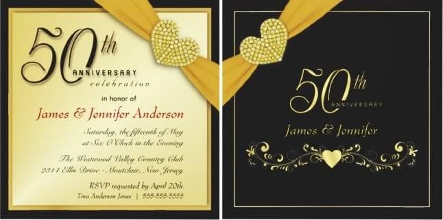 50 year wedding anniversary invitation