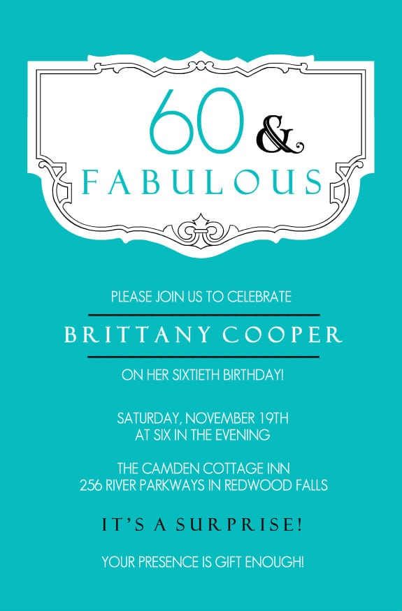 60th Birthday Invitation Designs