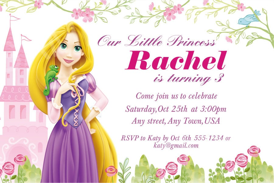 7th Bday Invitation Princess