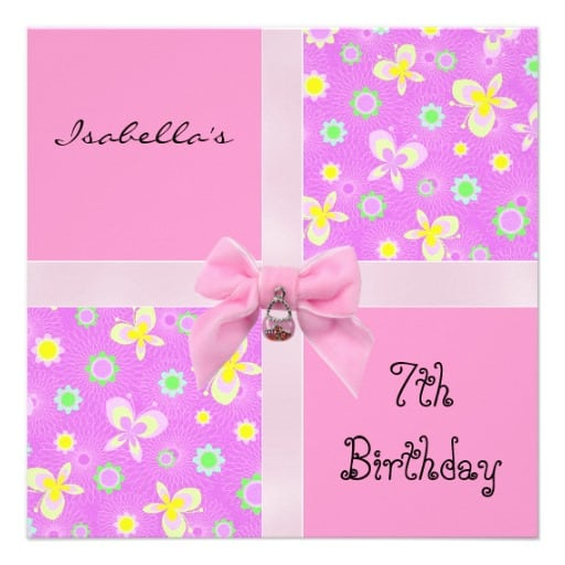 7th Birthday Invitations from Greeting Card Universe