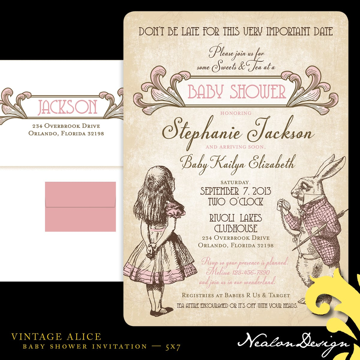 Alice And Wonderland Wedding Invitations: Alice In Wonderland Invitation Template Free