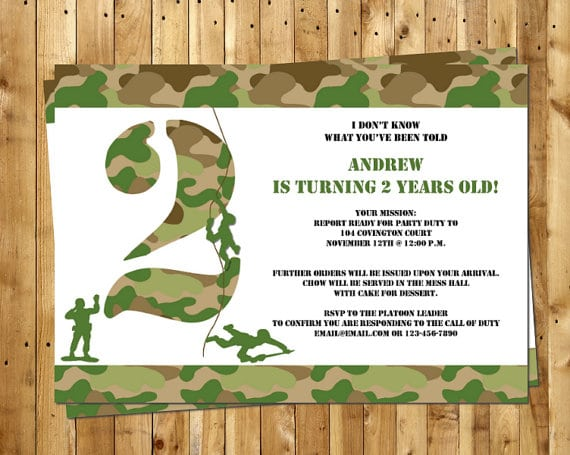 Army Party Invitation