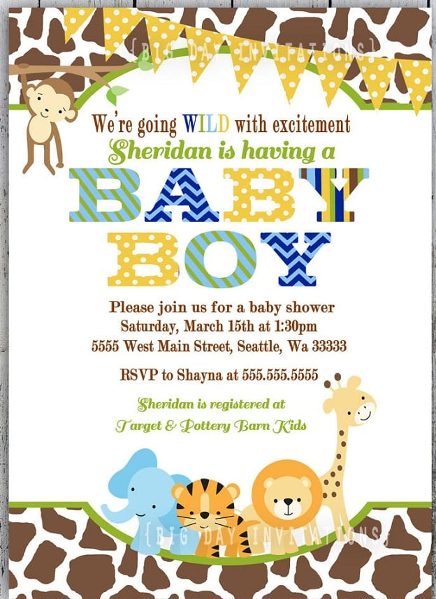 baby boy jungle shower invitation wording file name baby boy jungle
