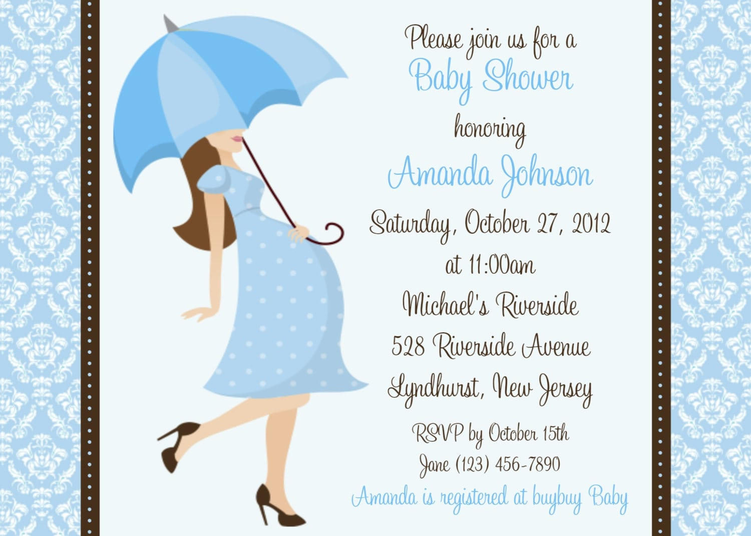 Baby Shower Invitation Samples For A Baby Boy