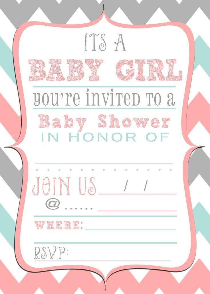 Baby Shower Robots Invitation Flyer Template