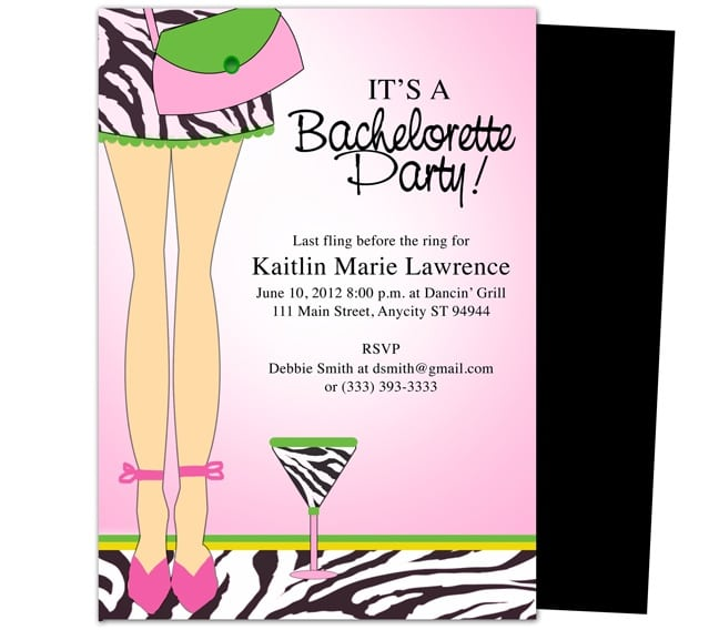 Bachelorette Party Printable Invitations