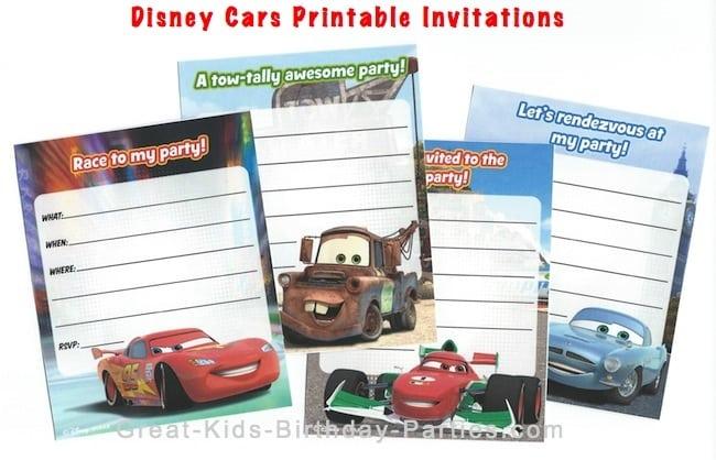 Birthday Invitation Disneys Cars