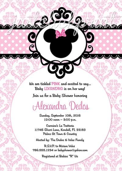 Birthday Invitation Layout Minnie Mouse
