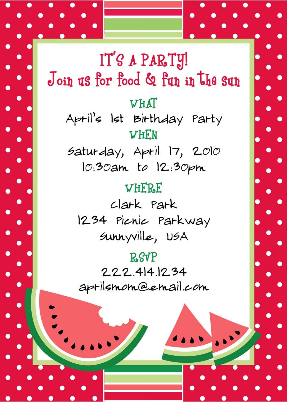 Birthday Invitation Layout Sample