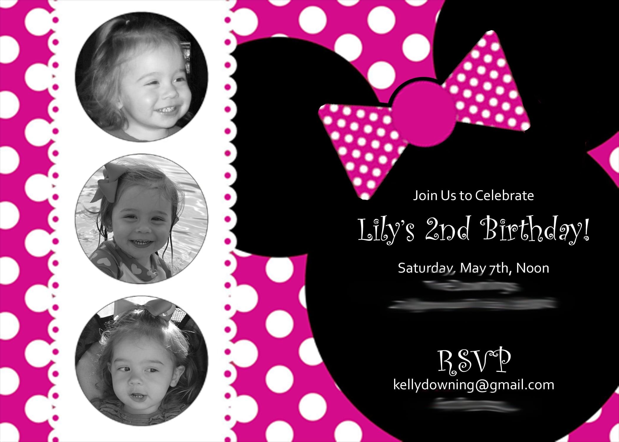 Birthday Invitation Minnie