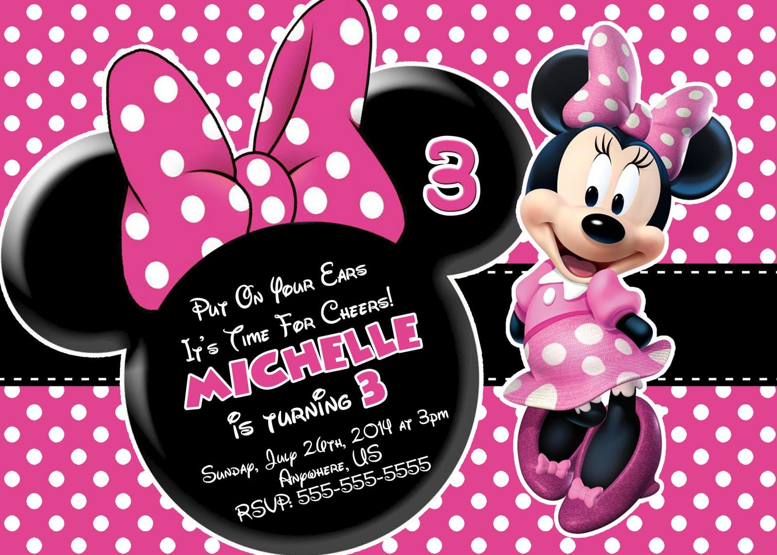 Birthday Invitations Minnie Mouse Free