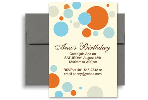 Invitation Orb  Party Invitation Template Word