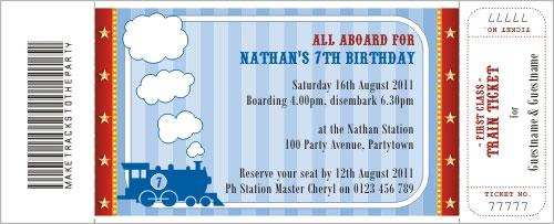 Blank casino party invitation template for Train ticket template word