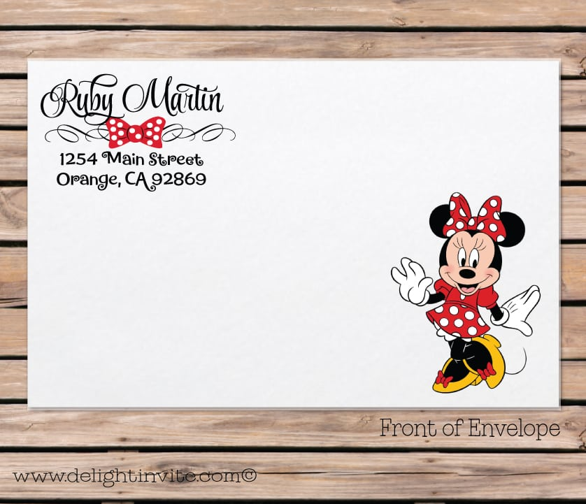 blank minnie mouse invitation