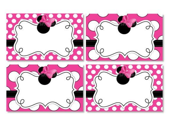 Blank Minnie Mouse Invitation