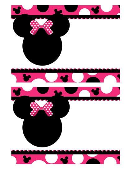 Blank Minnie Mouse Invitations