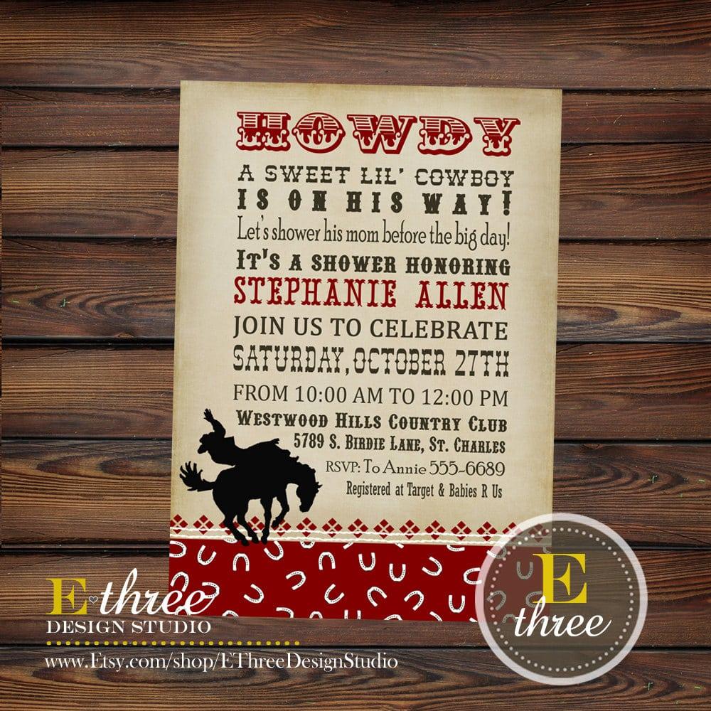 Bridal Shower Invitation Template Free Western
