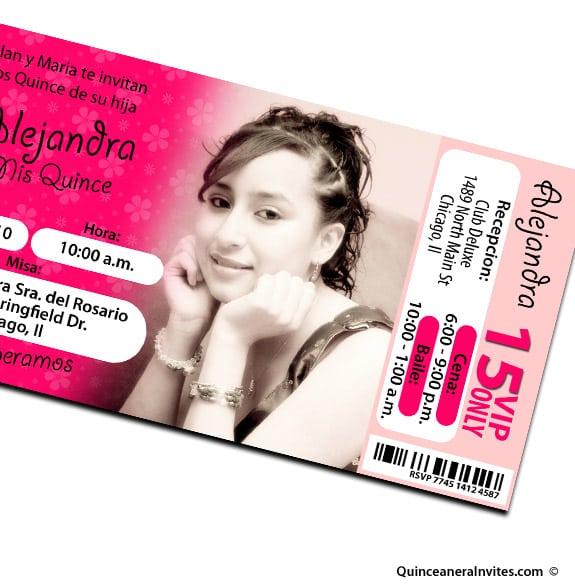 Cheap Printable Quinceanera Invitations
