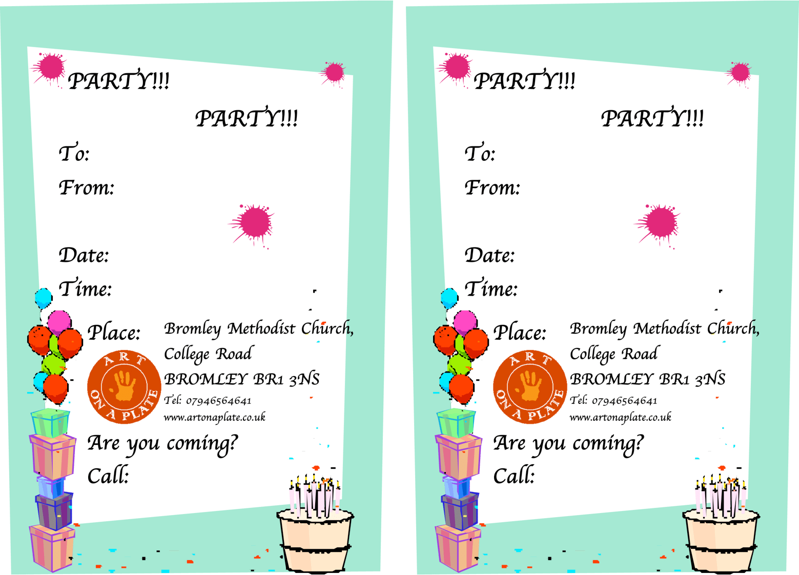 Birthday Invitation Format Template - Birthday invitation note sample