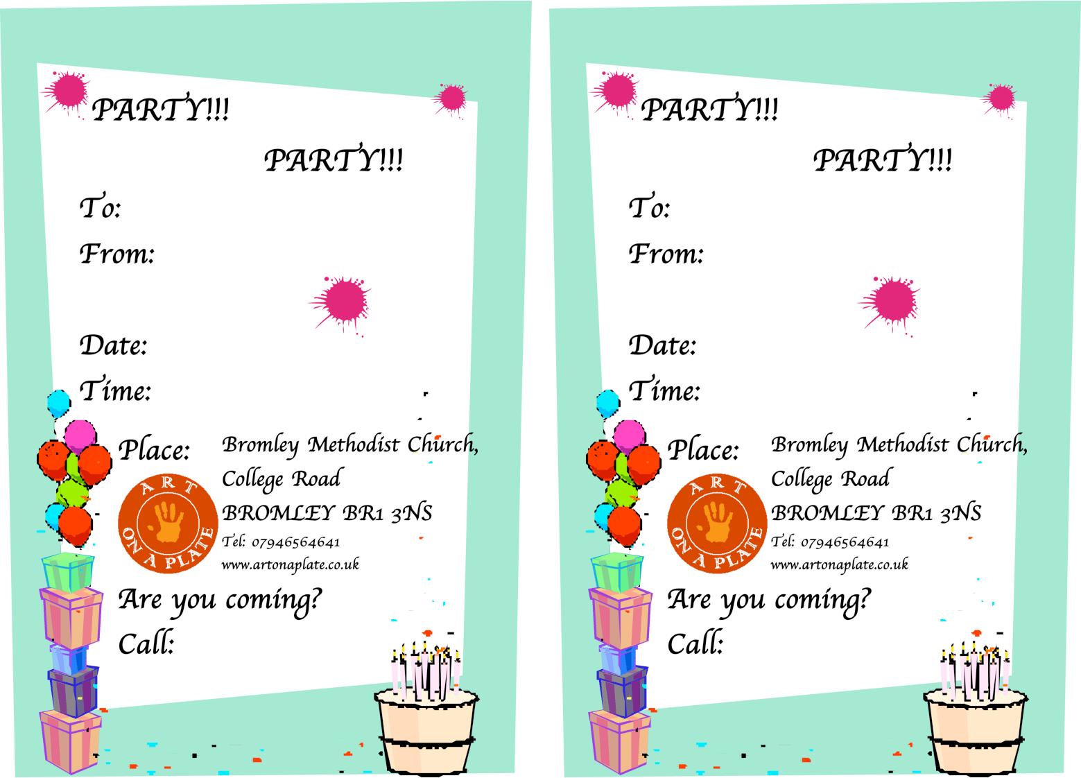 Child Birthday Invitation Card Sample