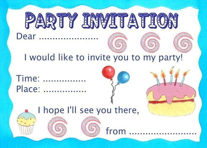 Children birthday party invitation template stopboris Choice Image
