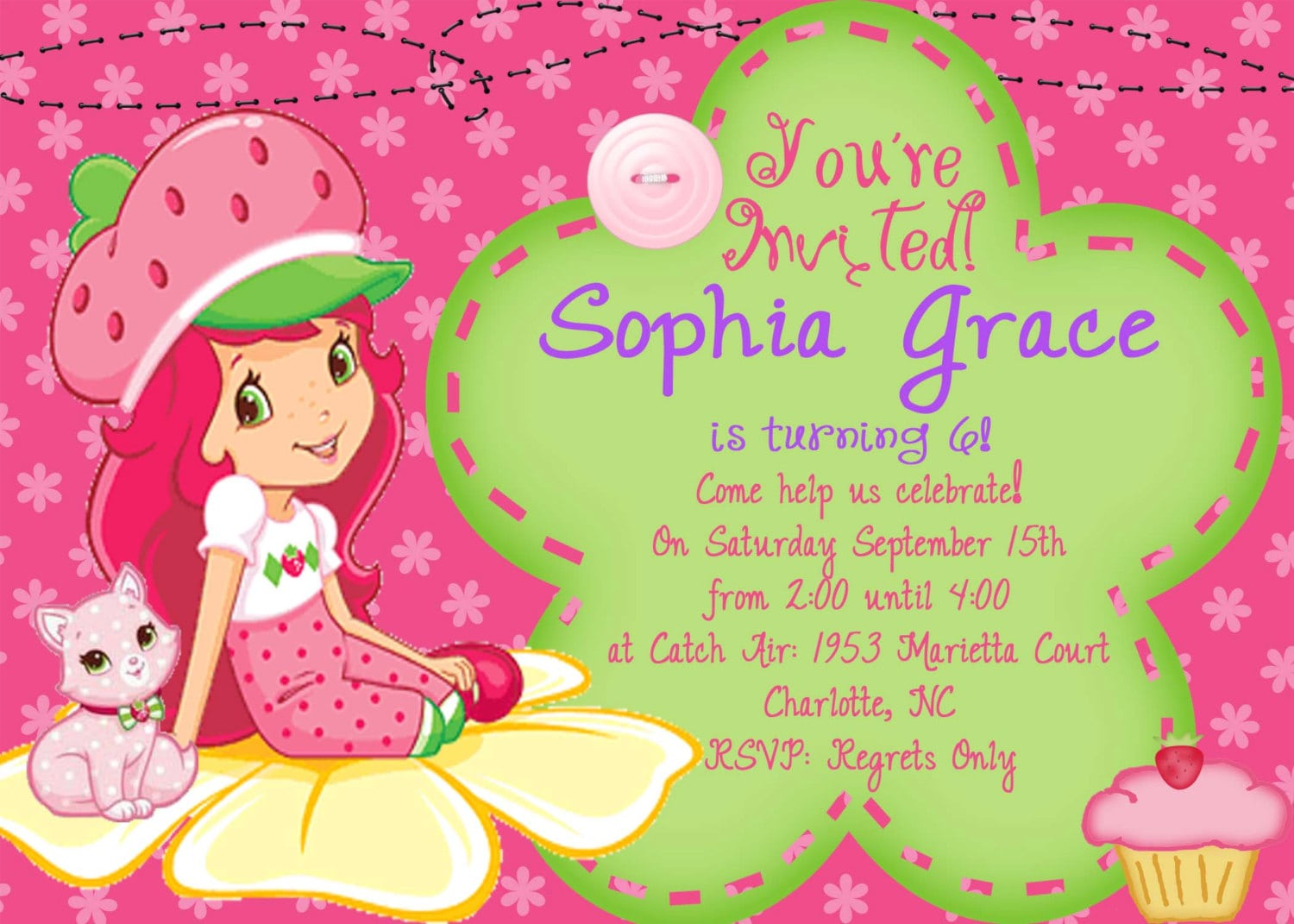 children birthday invitation card