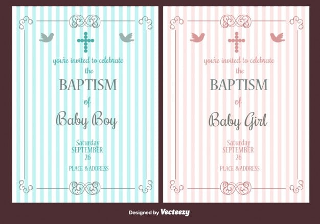 Christening Invitation Card Psd Free Download