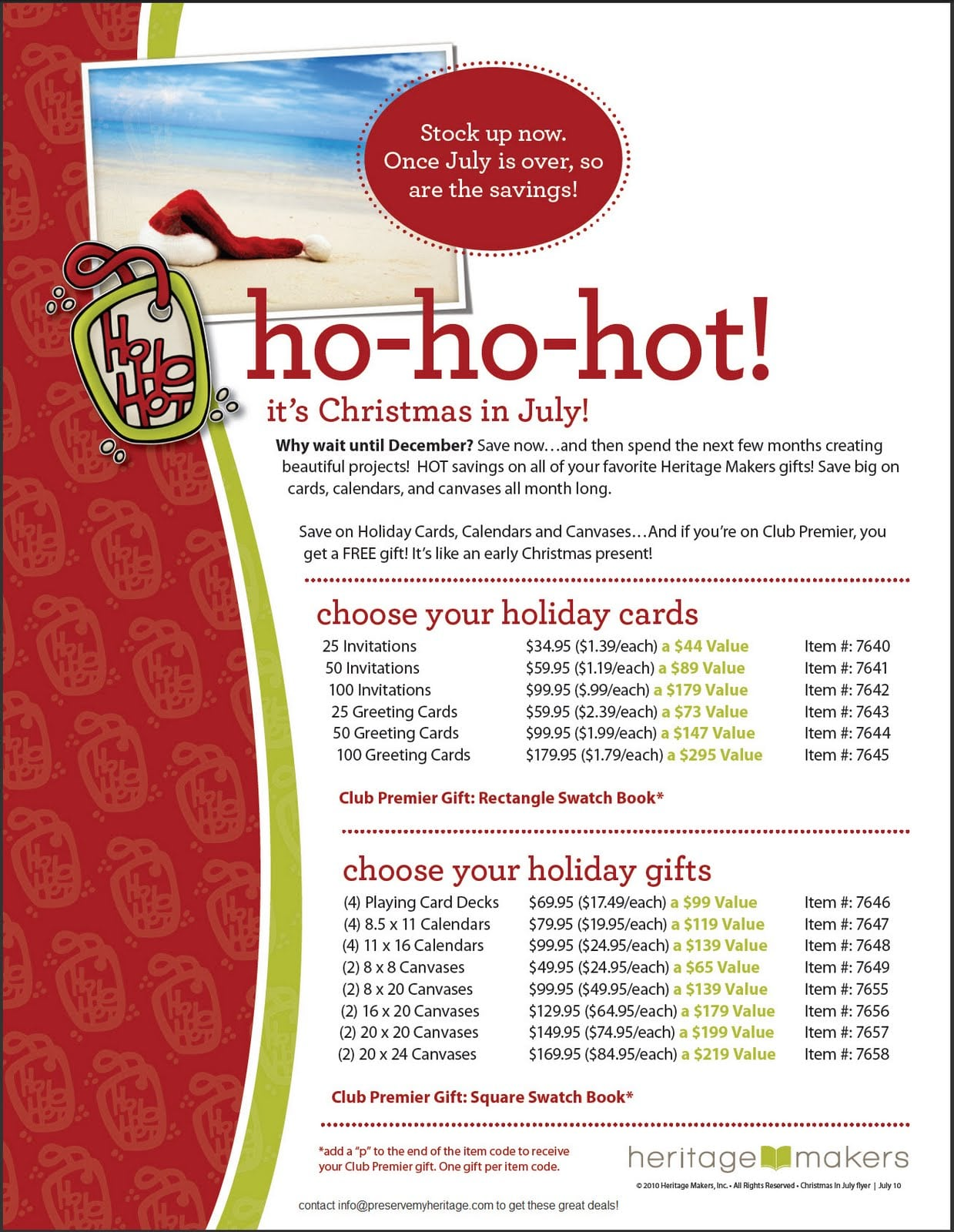 Christmas In July Invitation Free