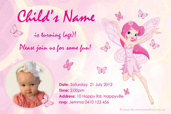 Design And Print Your Own Birthday Invitations Free