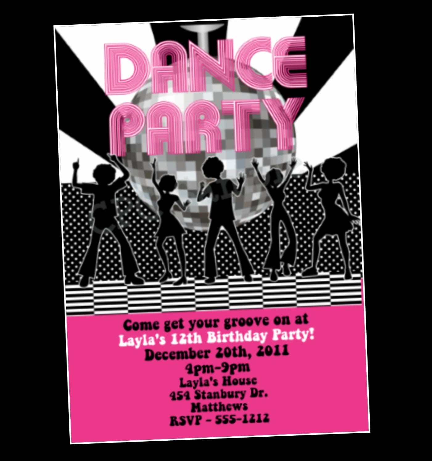 Discobirthdaypartyinvitationtemplatefreejpg - Disco party invites templates free
