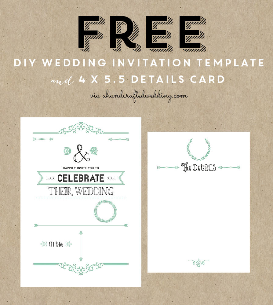 Diy Wedding Invitation Template Vintage