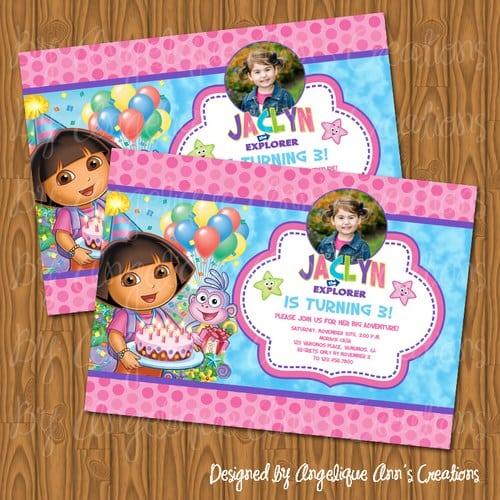 Dora Invitation Template Free
