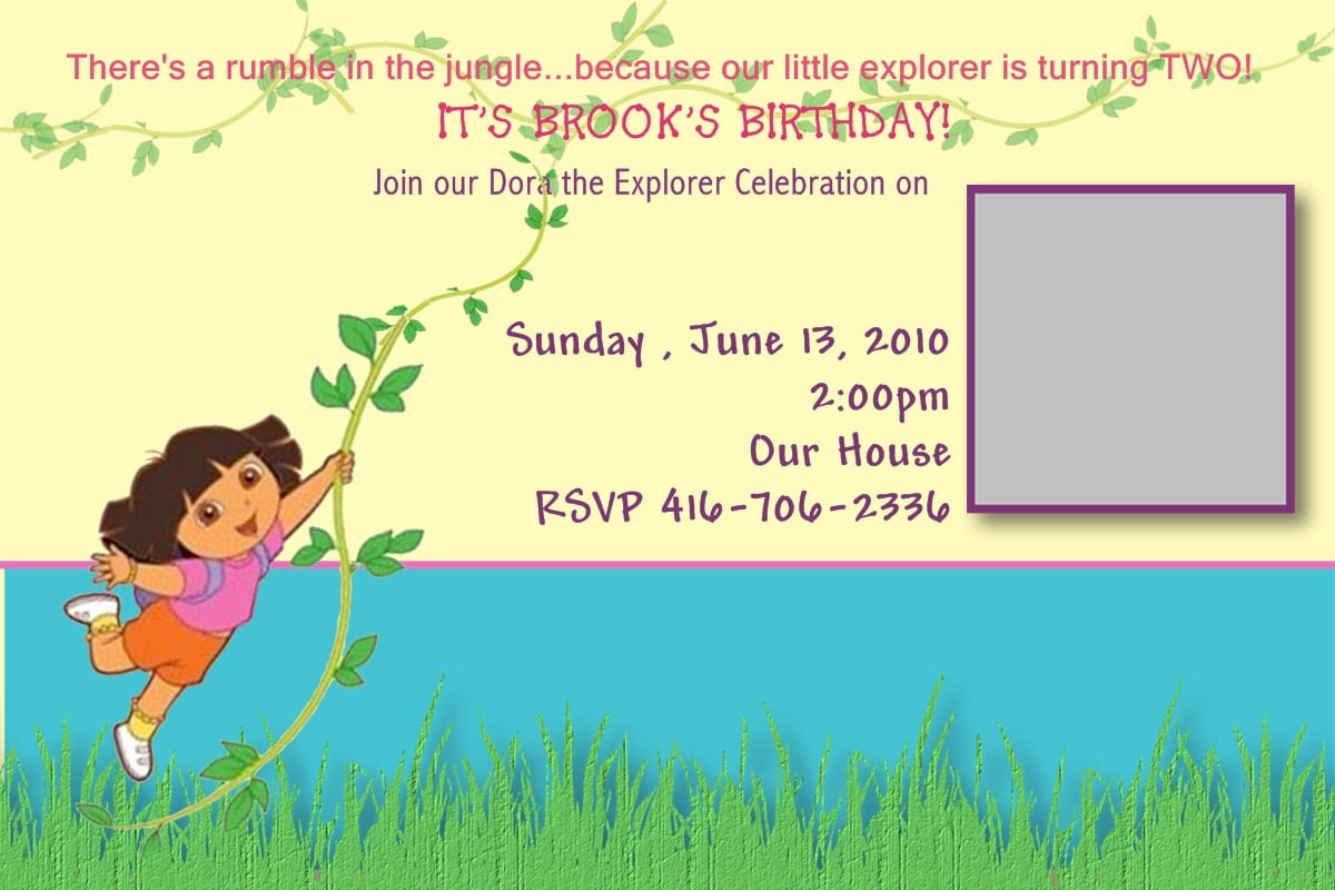 Dora Map Invitation Ideas