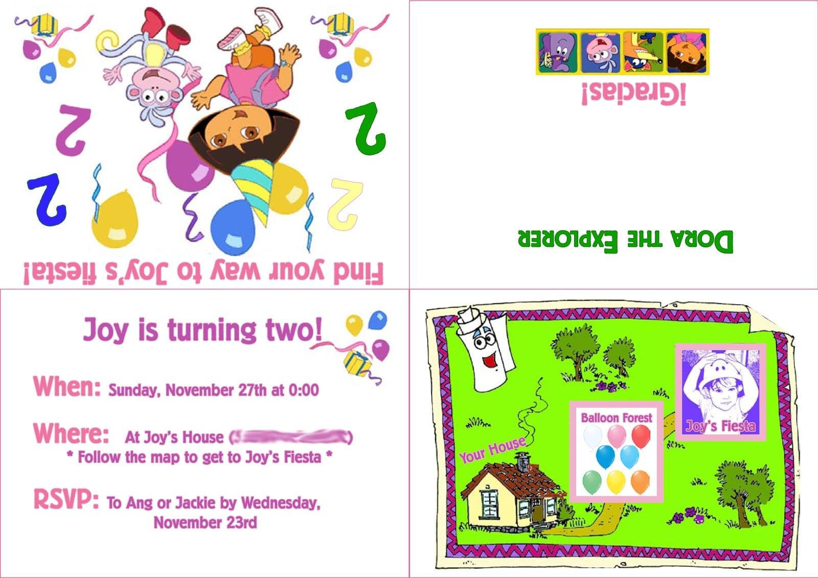 Dora The Explorer Invitation Templates Free