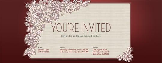 Electronic Wedding Anniversary Invitations