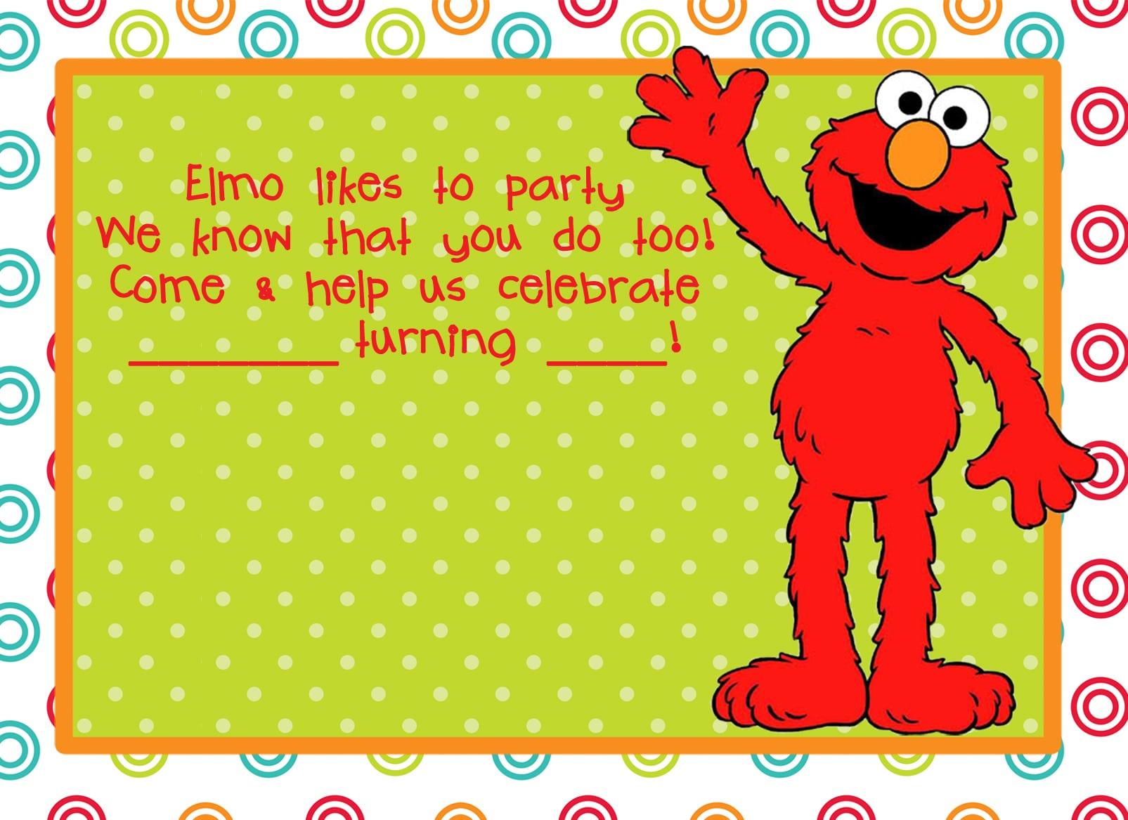 Elmo Invitation Free Printable