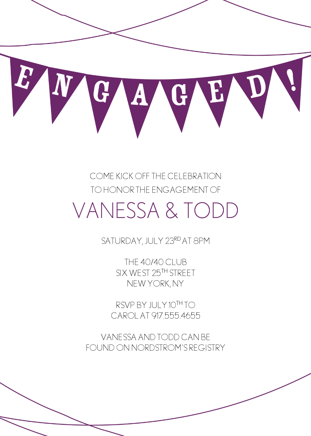Engagement Party Invitation Clipart