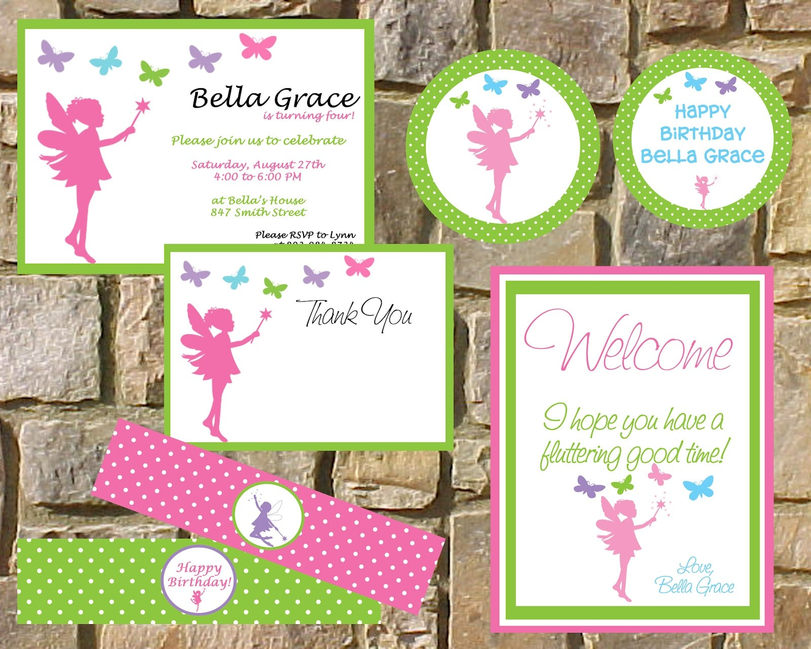 fairy invitation template