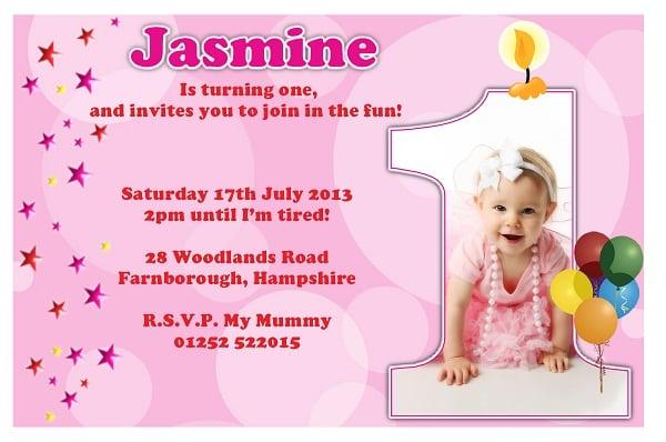 First Birthday Invitation Cards Designs Free