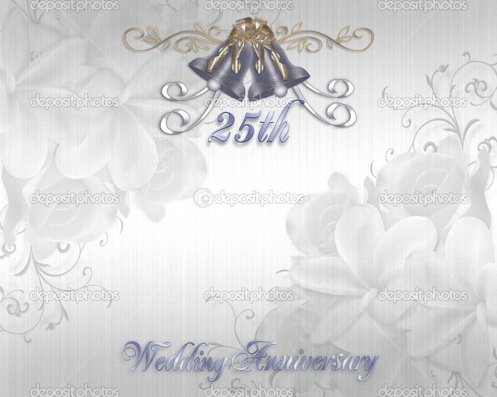 Free 25th Anniversary Invitation Template